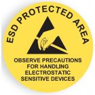 ESD vinyl round signs for walls, doors and floors