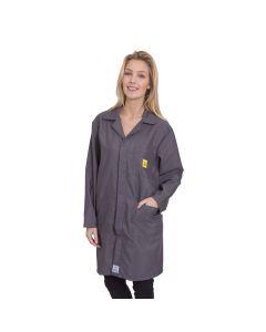 ESD Lab Coats in Dark Grey