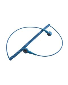 ESD Coiled Cord 10mm snap to 10mm snap