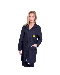 ESD Lab Coats in Black