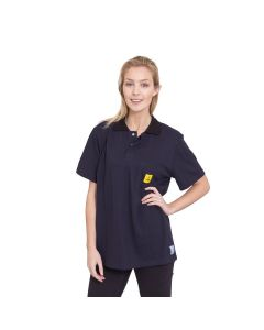 ESD Polo Shirts Short Sleeved in Navy Blue