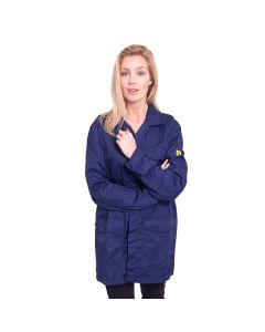 ESD Navy Blue Lab Coat