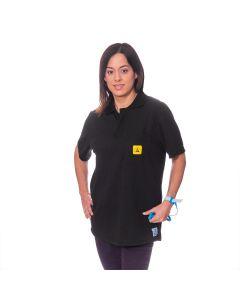 An ESD Polo Shirt in Black