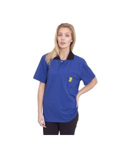 An attractive long sleeved Polo Shirts in Royal Blue