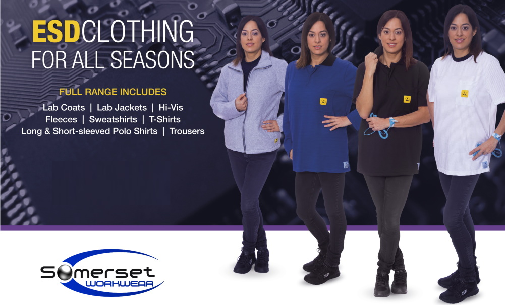 Check out the most extensive ESD clothing selection in the UK